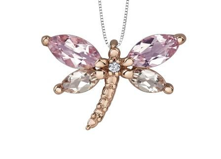 Gemstone Dragonfly Pendant - Fifth Avenue Jewellers