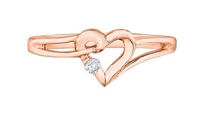 Heart of Canada Ring In Rose Gold - Fifth Avenue Jewellers