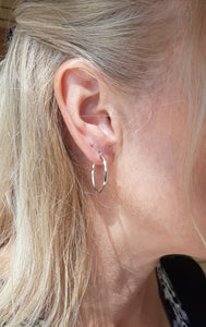 High Polished Knife Edge Hoops - Fifth Avenue Jewellers