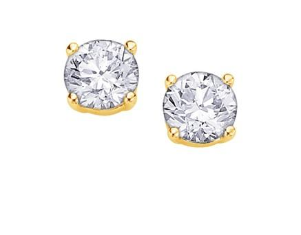 I Am Canadian Diamond Studs .50ct - Fifth Avenue Jewellers