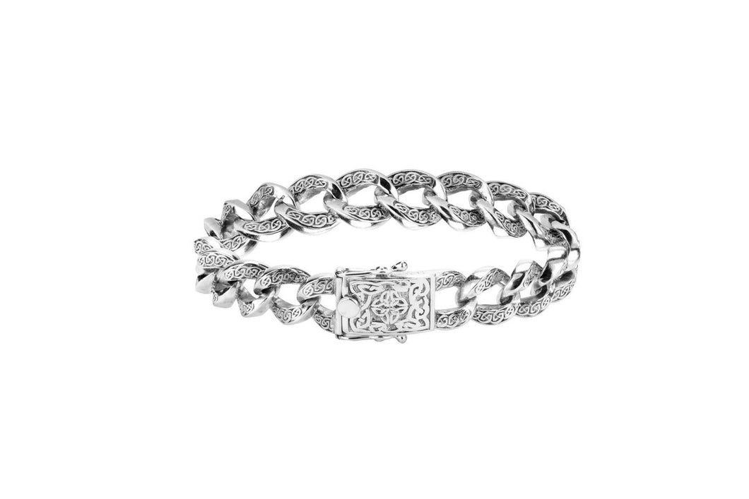 Keith Jack Celtic Knot Curb Link Bracelet - Fifth Avenue Jewellers