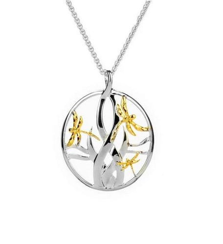 Keith Jack Dragonfly In Reeds Small Pendant - Fifth Avenue Jewellers