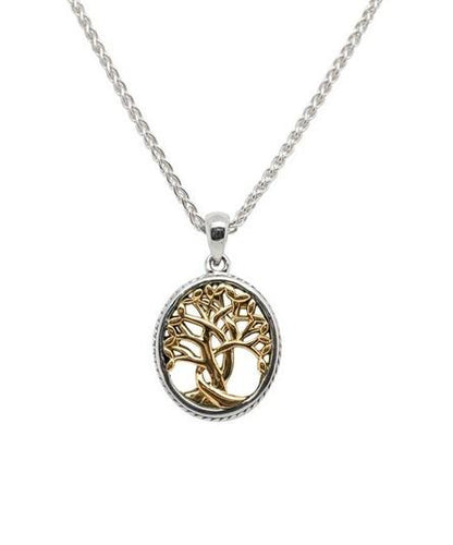 Keith Jack Petite Tree of Life Pendant With Gold Accent - Fifth Avenue Jewellers