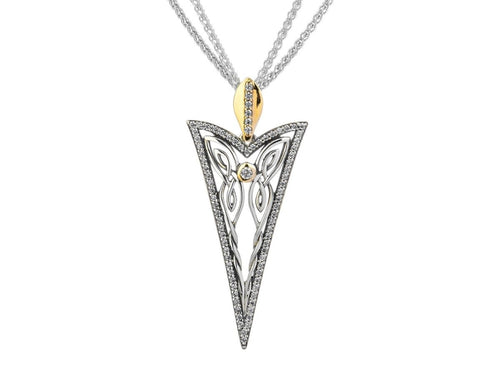 Keith Jack Sterling Silver and 10k Gold Cubic Zirconia Butterfly Gateway Pendant - Fifth Avenue Jewellers