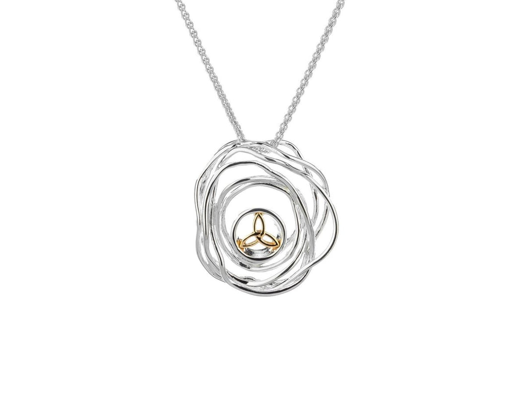 Keith Jack Sterling Silver and 10k Yellow Gold Celtic Cradle of Life Pendant - Fifth Avenue Jewellers