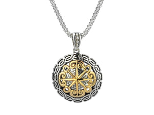 Keith Jack Sterling Silver and 10k Yellow Gold Compass Eternity Pendant - Fifth Avenue Jewellers