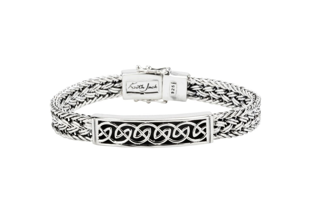 Keith Jack Sterling Silver Dragon Weave Eternity Clasp Bracelet - Fifth Avenue Jewellers