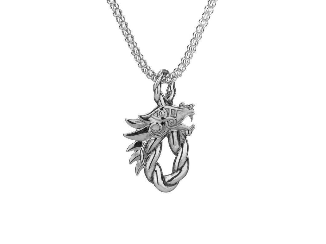 Keith Jack Sterling Silver Oval Dragon Head Pendant - Fifth Avenue Jewellers