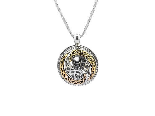 Keith Jack Sterling Silver Oxidized and 10k Yellow Gold Harmony Pendant - Fifth Avenue Jewellers