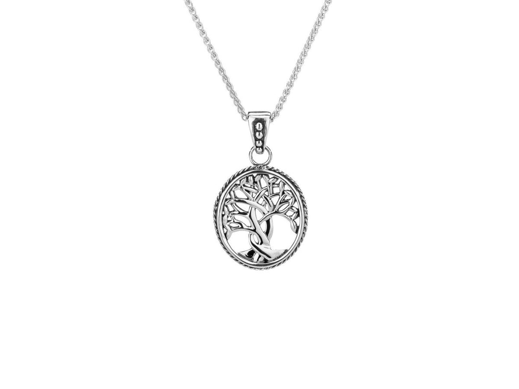 Keith Jack Sterling Silver Tree of Life Pendant - Fifth Avenue Jewellers
