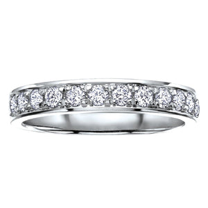Kudos Diamond Wedding Band in White Gold - Fifth Avenue Jewellers