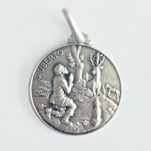 Large Round Silver St Hubert Medal - Fifth Avenue Jewellers