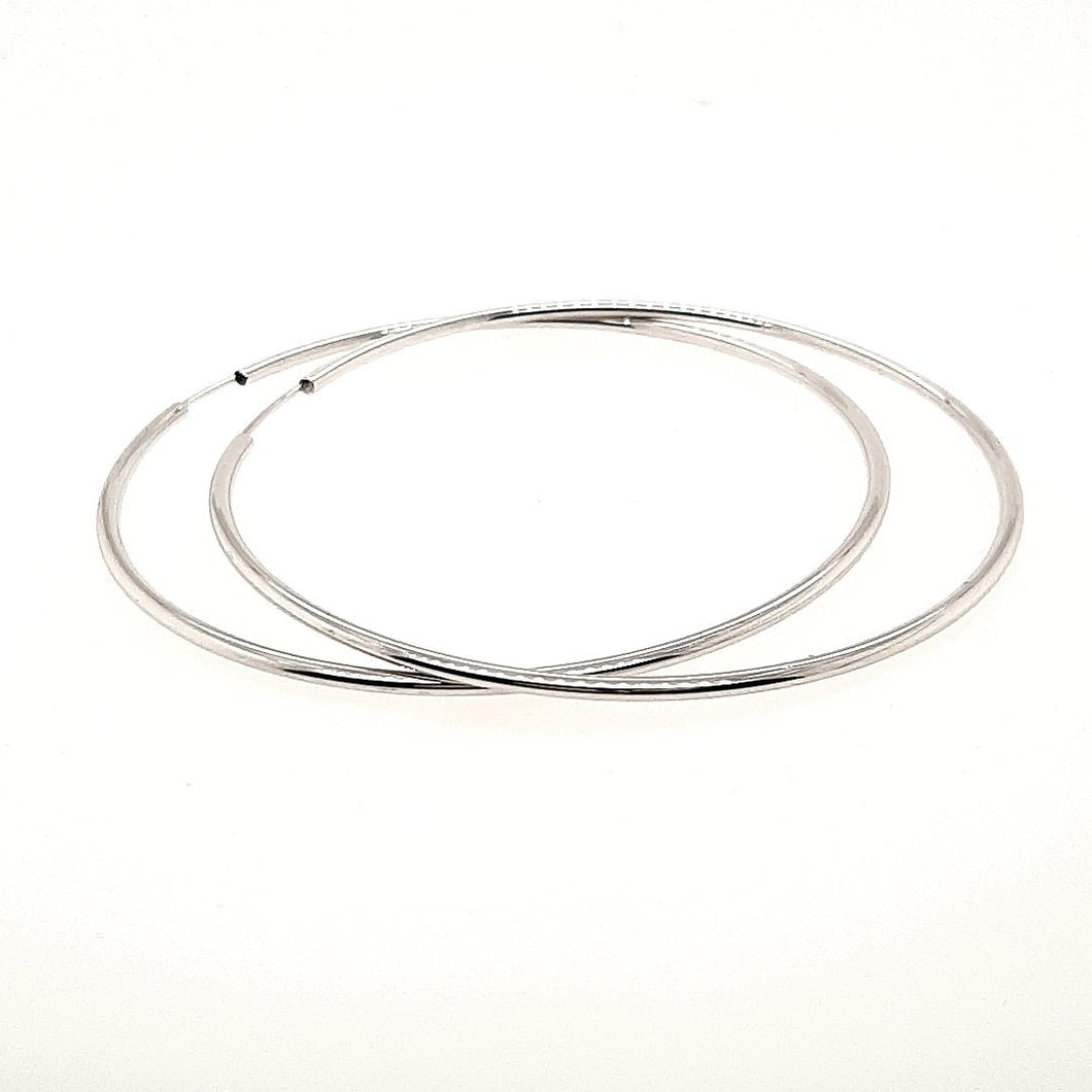 Large White Gold Hoops - Fifth Avenue Jewellers