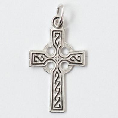 Medium Silver Ornate Celtic Cross - Fifth Avenue Jewellers