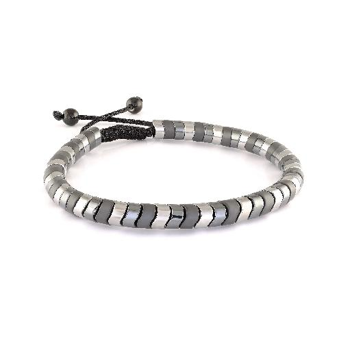 Mens Adjustable Hematite Bracelet BB-178 - Fifth Avenue Jewellers