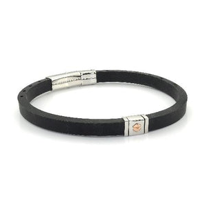 Mens Adjustable Silicone Bracelet SLB448 - Fifth Avenue Jewellers
