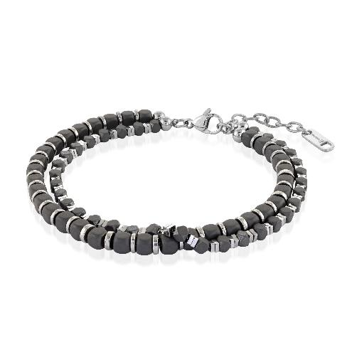 Mens Double Row Bead Bracelet BB-195 - Fifth Avenue Jewellers