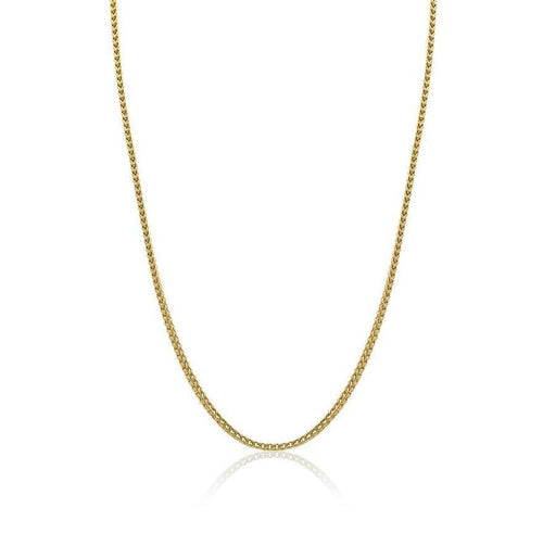 Mens Gold Round Franco Necklace SYN21 - Fifth Avenue Jewellers