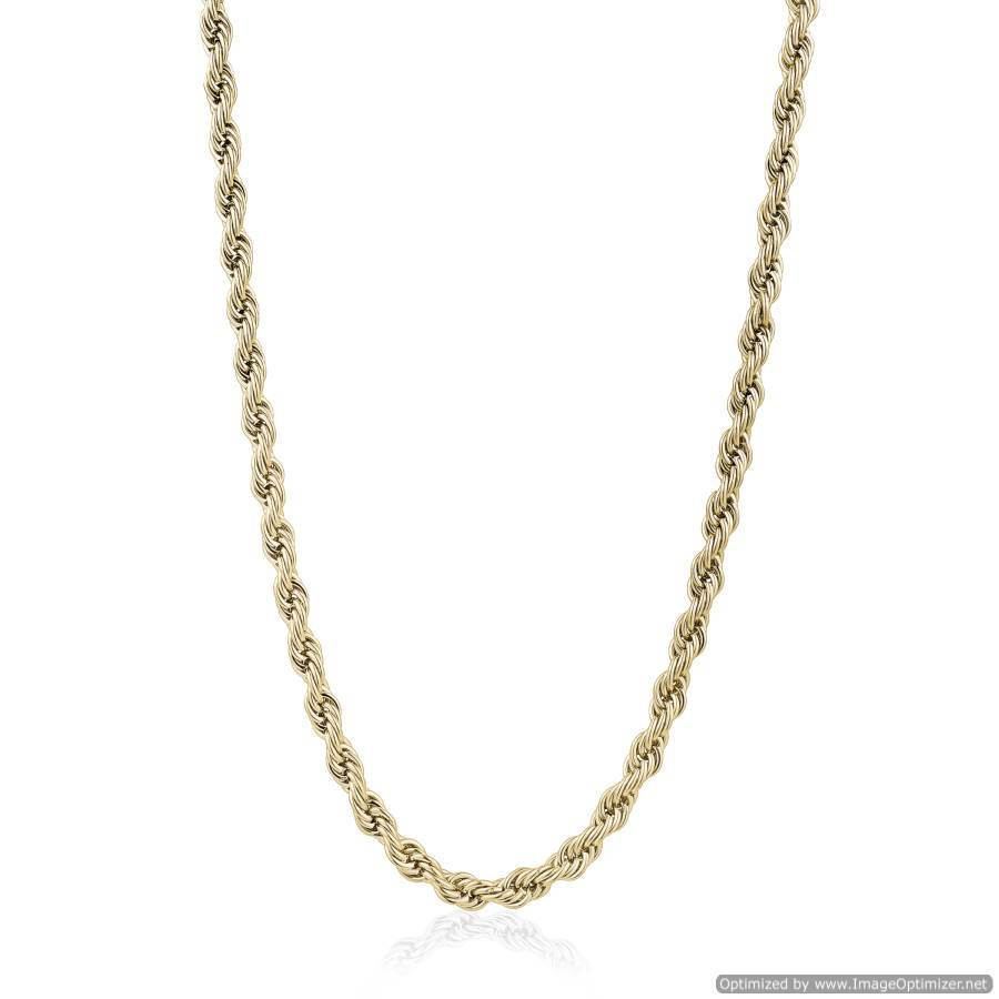 Mens Gold Steel Rope Chain SYN23-24 - Fifth Avenue Jewellers