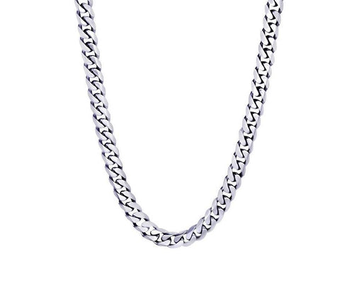 Mens Polished Curb Link Necklace SN13 - Fifth Avenue Jewellers