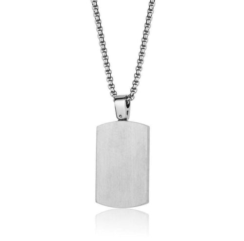 Mens Reversible Dogtag SP103 - Fifth Avenue Jewellers