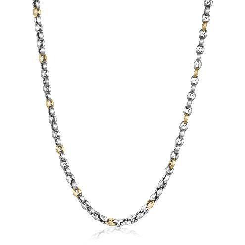 Mens Steel & Yellow Plated Gucci Style Chain STTN19 - Fifth Avenue Jewellers