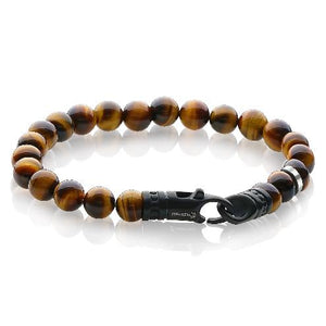 Mens Tiger Eye Bead Bracelet BB-62 - Fifth Avenue Jewellers