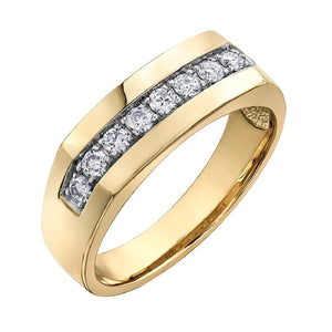 Mens Yellow Gold And Diamond Band DD7274 - Fifth Avenue Jewellers