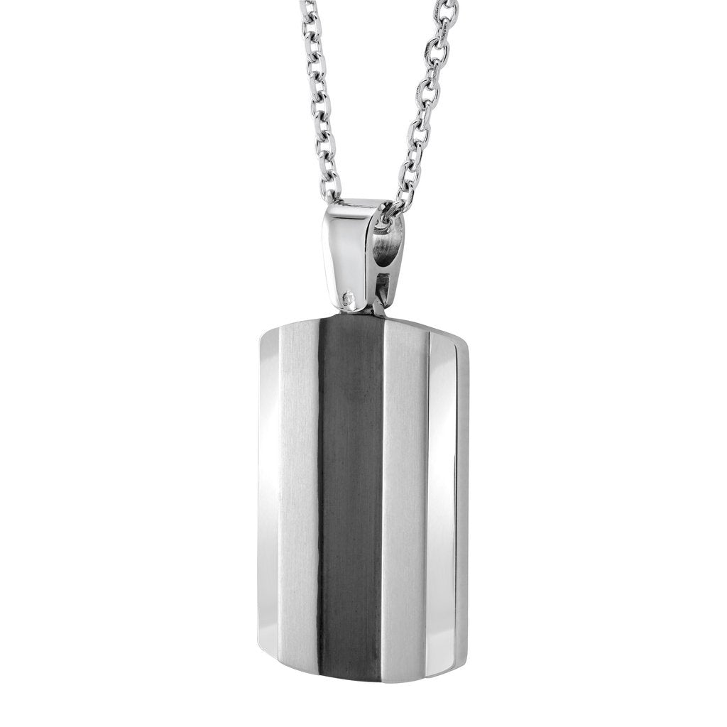 Modo Dog Tag Necklace SP44 - Fifth Avenue Jewellers