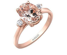 Load image into Gallery viewer, Morganite Solitaire With Diamond Accents - Fifth Avenue Jewellers