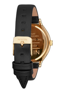 Nixon Clique Leather Watch Black/Gold A1250-513-00 - Fifth Avenue Jewellers