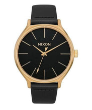 Load image into Gallery viewer, Nixon Clique Leather Watch Black/Gold A1250-513-00 - Fifth Avenue Jewellers