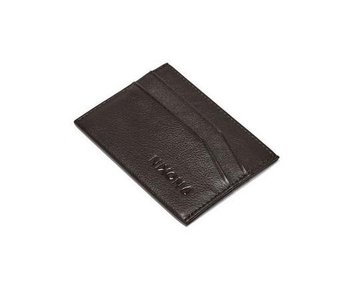 Nixon Flaco Leather Card Wallet Brown - Fifth Avenue Jewellers