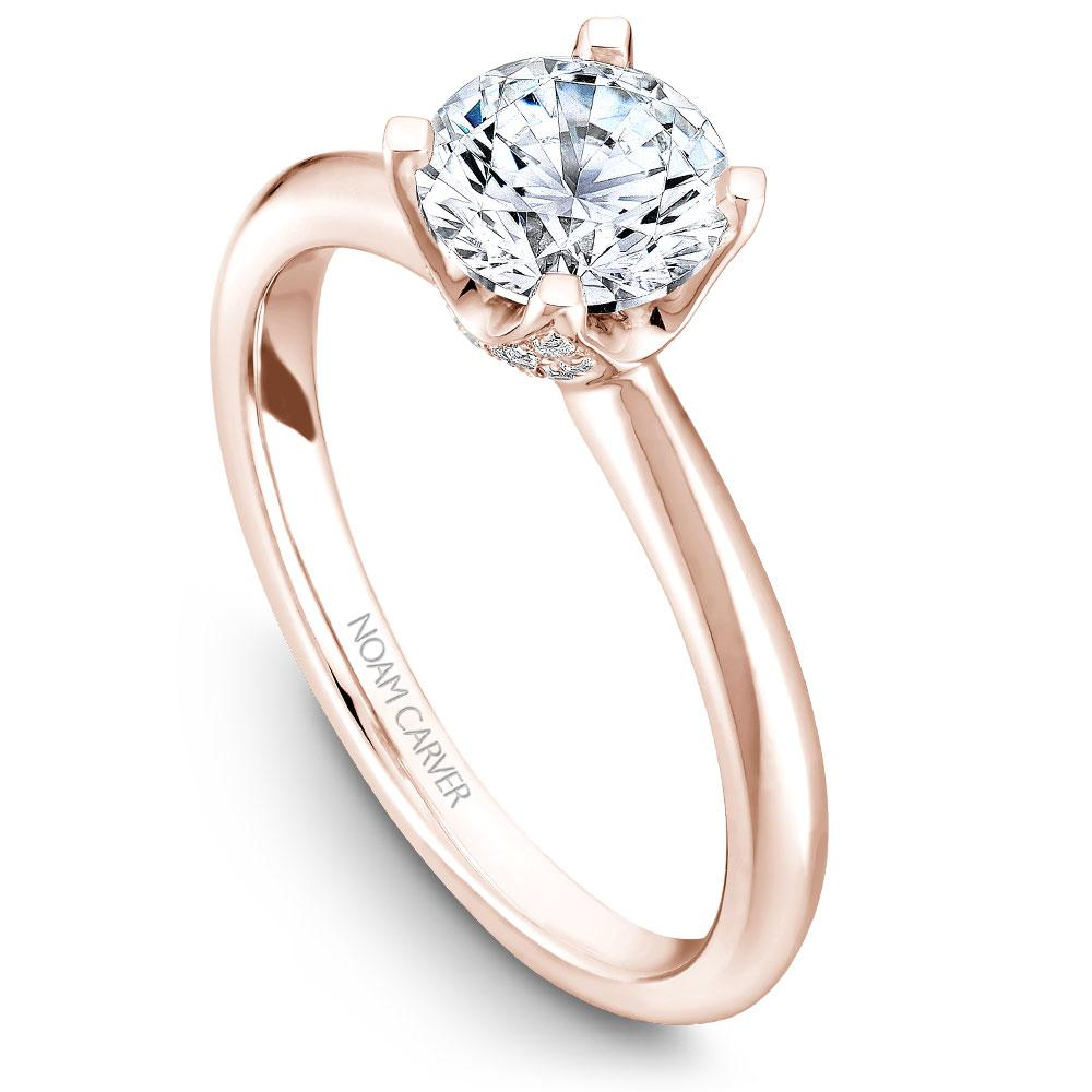 Noam Carver 14K Rose Gold Engagement Ring B027-03RM-100A - Fifth Avenue Jewellers