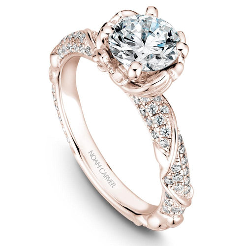 Noam Carver 14K Rose Gold Engagement Ring B081-02RM-075A - Fifth Avenue Jewellers
