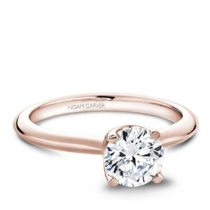 Noam Carver 14K Rose Gold Semi Mount Engagement Ring B027-01RM-075A - Fifth Avenue Jewellers