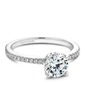 Noam Carver 14K White Gold Engagement Ring B027-02WM-075A - Fifth Avenue Jewellers