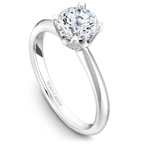 Noam Carver 14K White Gold Engagement Ring B027-03WM-050A - Fifth Avenue Jewellers