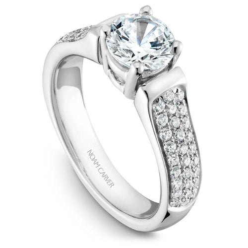 Noam Carver 14K White Gold Engagement Ring B042-02WM-075A - Fifth Avenue Jewellers