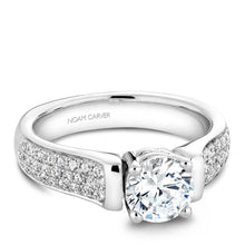 Load image into Gallery viewer, Noam Carver 14K White Gold Engagement Ring B042-02WM-100A - Fifth Avenue Jewellers