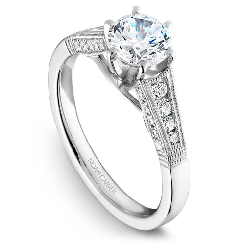Noam Carver 14K White Gold Engagement Ring B061-01WM-050A - Fifth Avenue Jewellers