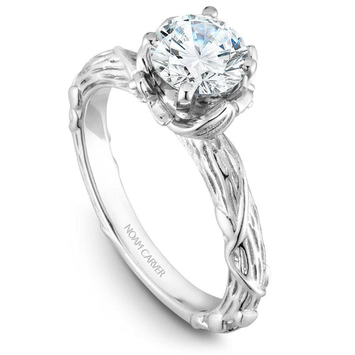 Noam Carver 14K White Gold Engagement Ring B081-01WM-075A - Fifth Avenue Jewellers