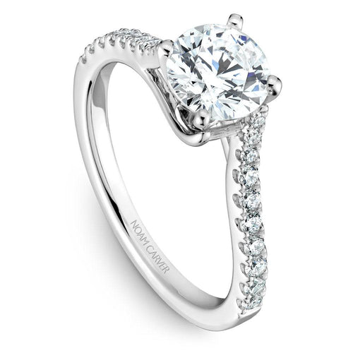 Noam Carver 14K White Gold Engagement Ring B089-01WM-100A - Fifth Avenue Jewellers