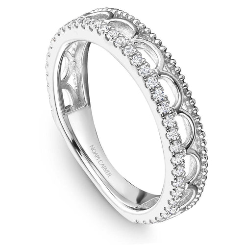 Noam Carver 14K White Gold Wedding Band STA15-1WM - Fifth Avenue Jewellers