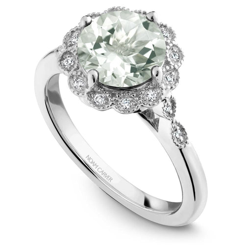 Noam Carver Green Amethyst Engagement Ring G003-01WM-800G - Fifth Avenue Jewellers