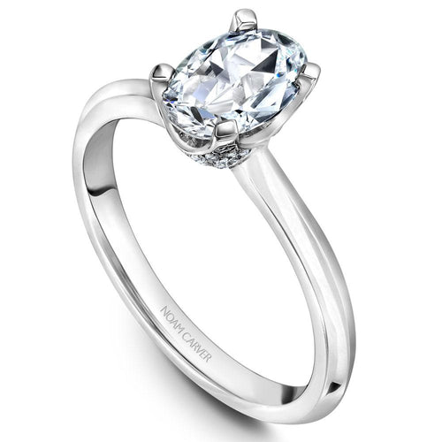 Noam Carver Platinum Engagement Ring B027-04WZ-FCYA - Fifth Avenue Jewellers