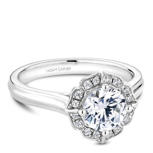 Noam Carver Platinum Engagement Ring R030-01WZ-075A - Fifth Avenue Jewellers