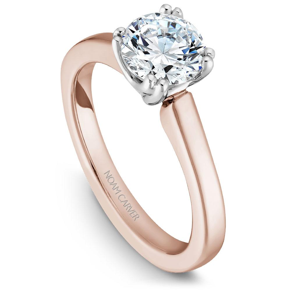 Noam Carver Rose Gold Engagement Ring B001-02RWM-075A - Fifth Avenue Jewellers