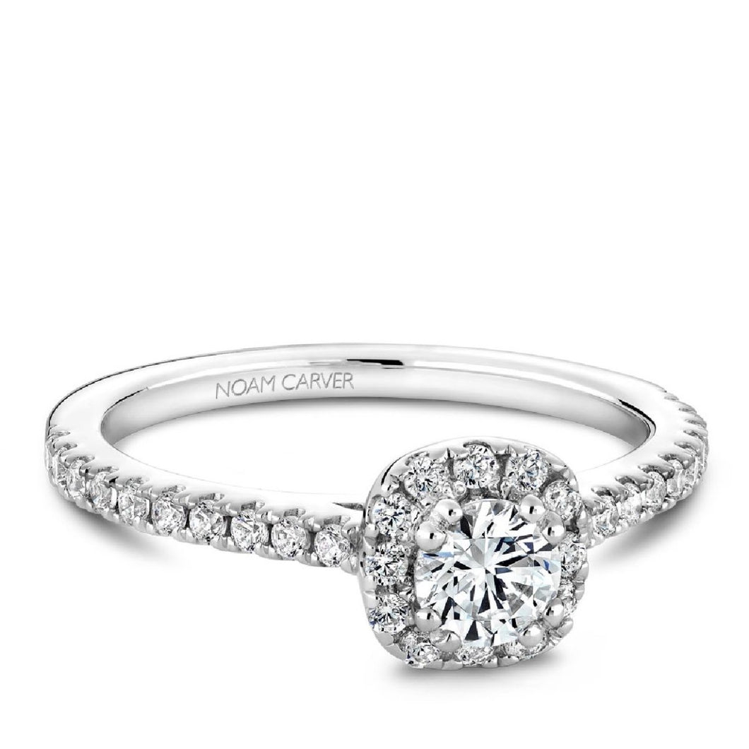 Noam Carver Studio14K Engagement Ring S007-02WM-FB25A - Fifth Avenue Jewellers