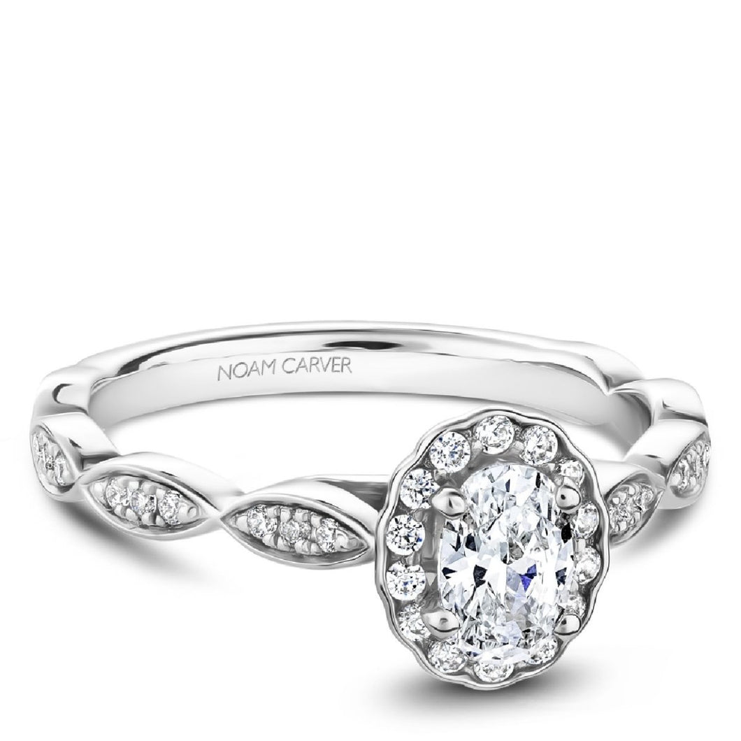 Noam Carver Studio14k Engagement Ring S085-02WM-FB33A - Fifth Avenue Jewellers